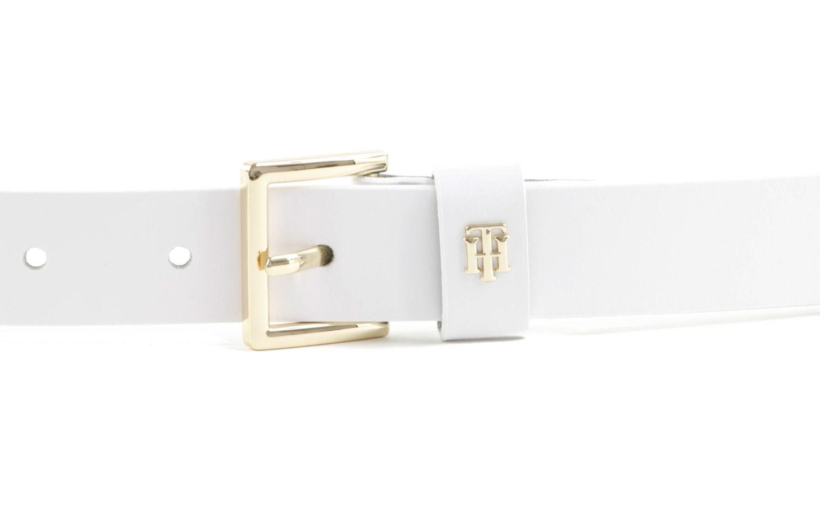 TOMMY HILFIGER Square Buckle Belt 2.5 W75 White