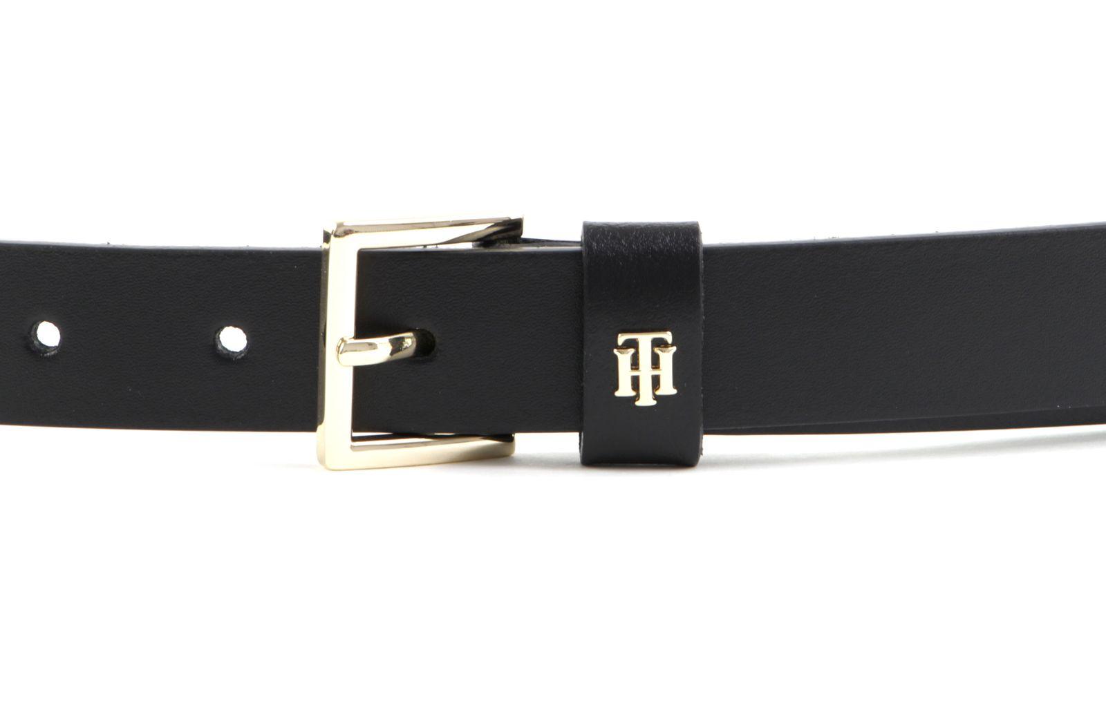 TOMMY HILFIGER Square Buckle Belt 2.5 W90 Black