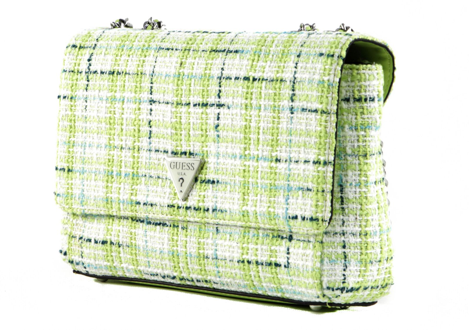 GUESS Cessily Convertible Xbody Flap Lime Multi