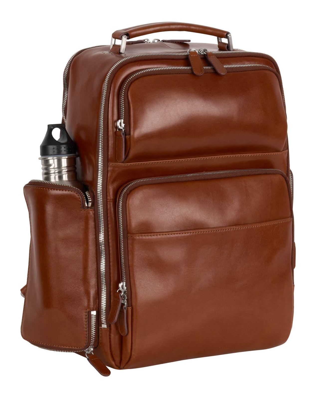 LEONHARD HEYDEN Cambridge Bus Backpack Cognac