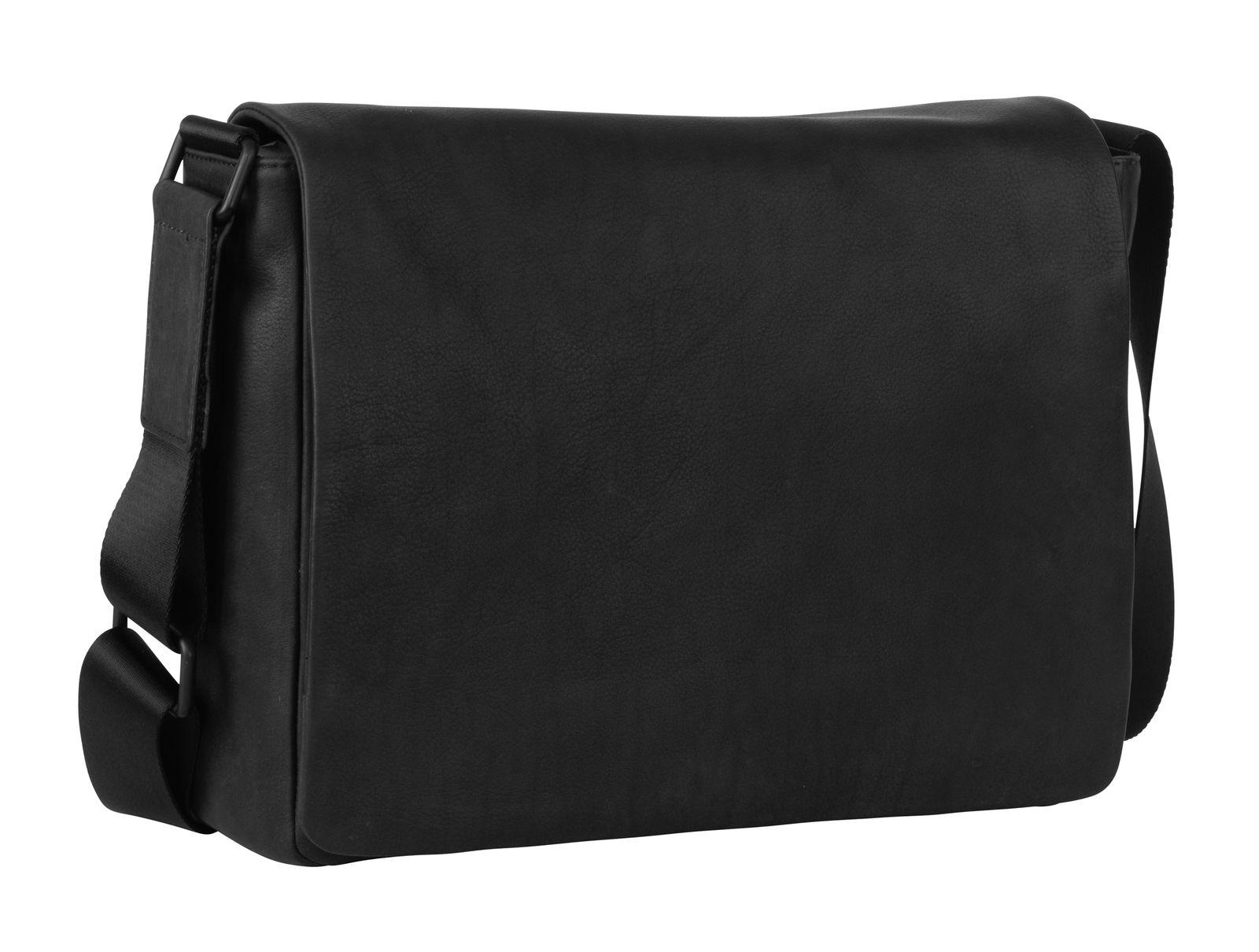 LEONHARD HEYDEN Den Haag Messenger Bag L Black