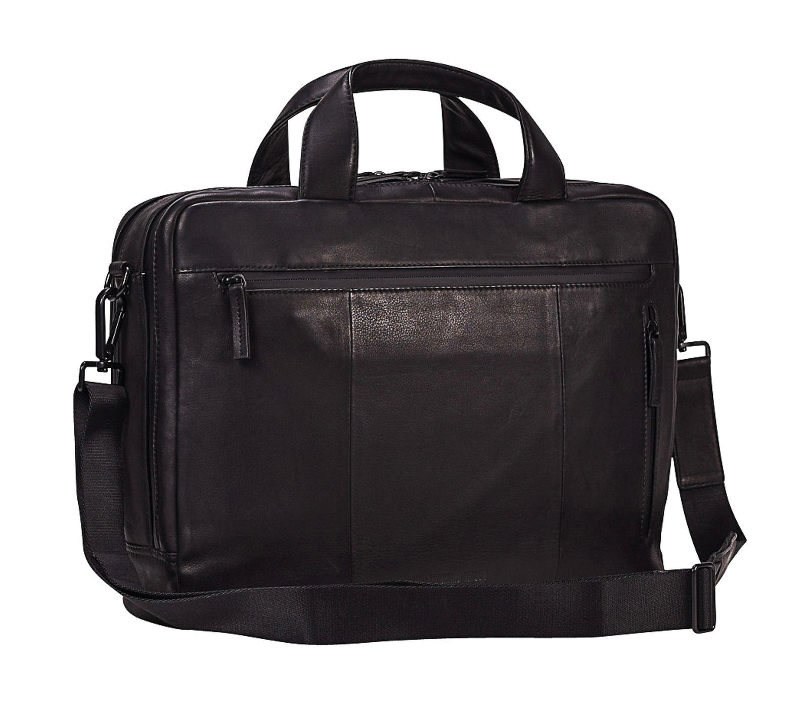 LEONHARD HEYDEN Den Haag Briefbag 2 Compartment Black