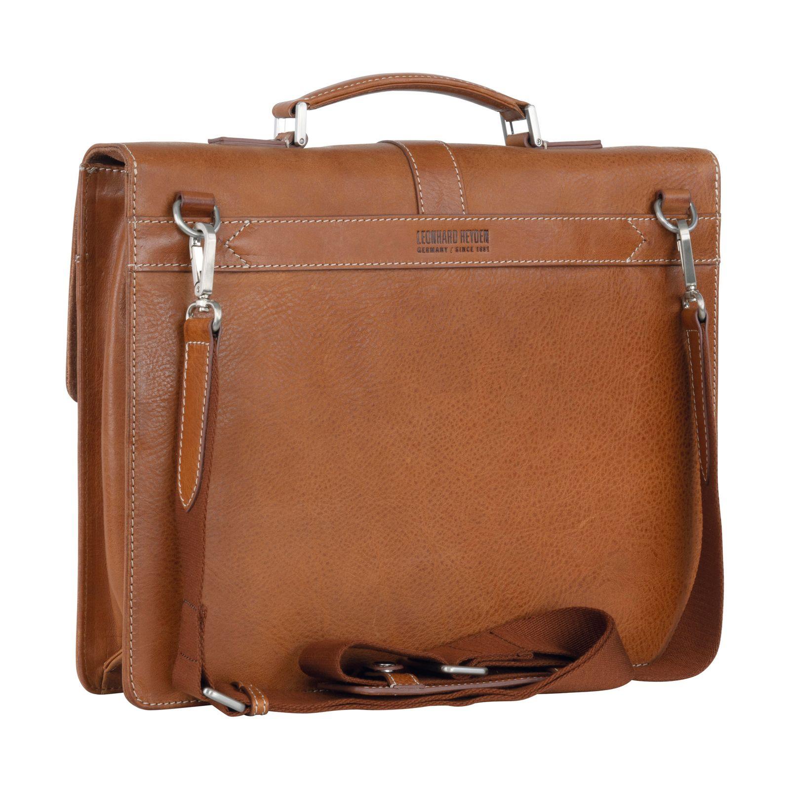 LEONHARD HEYDEN Bergamo Briefcase 1 Light Brown