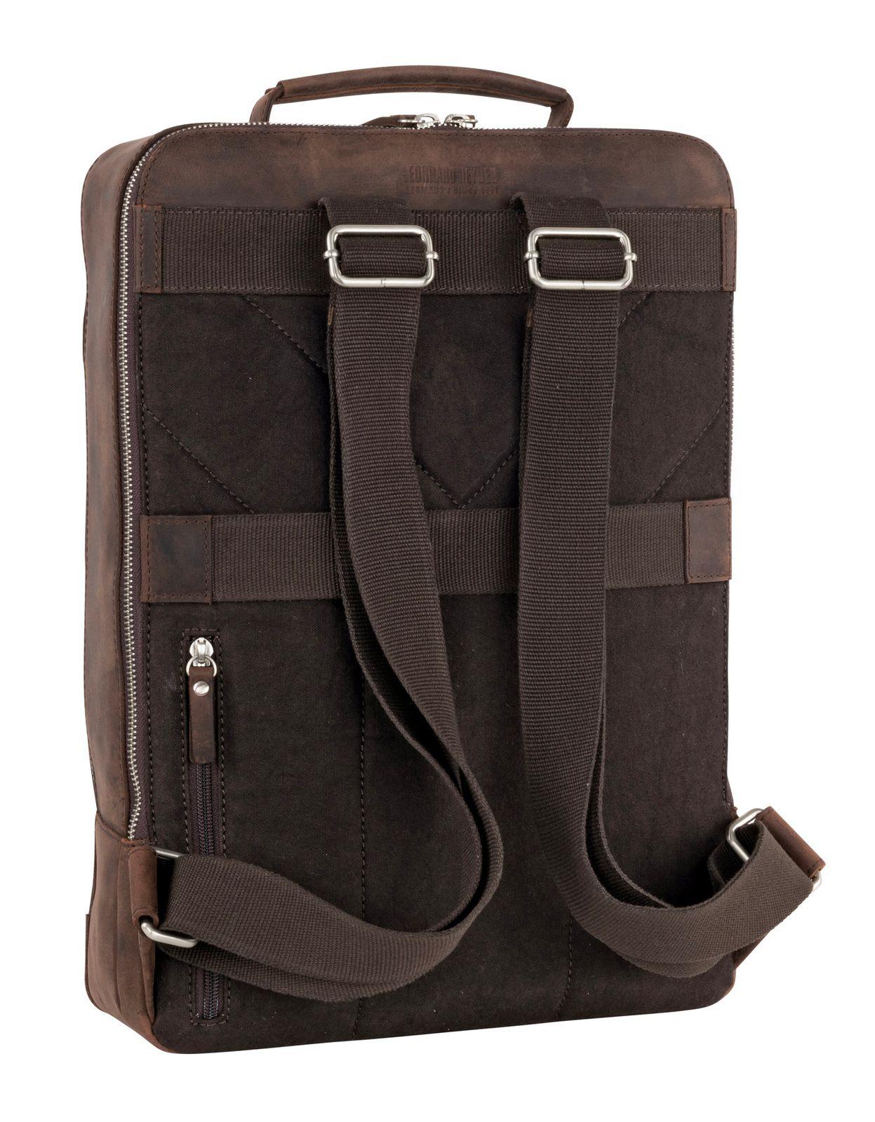 LEONHARD HEYDEN Salisbury Business Backpack Brown