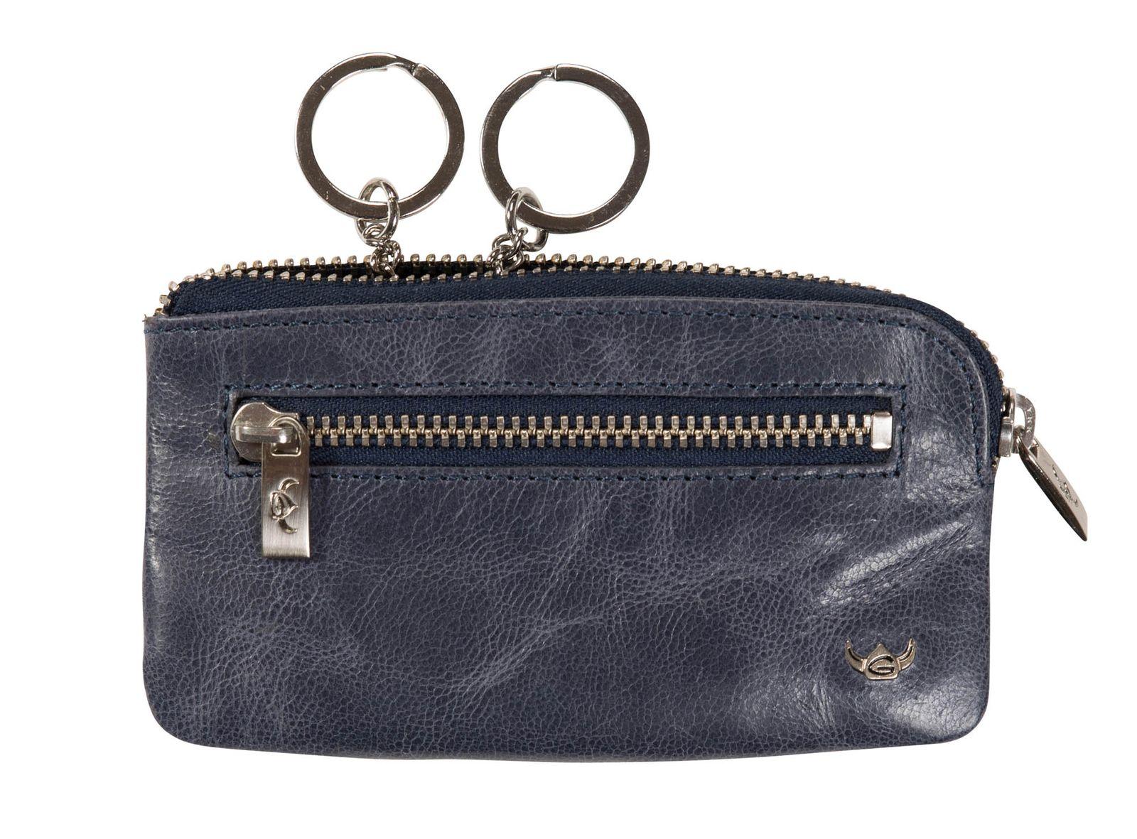 Golden Head Tosca Zipped Key Case Dark Blue