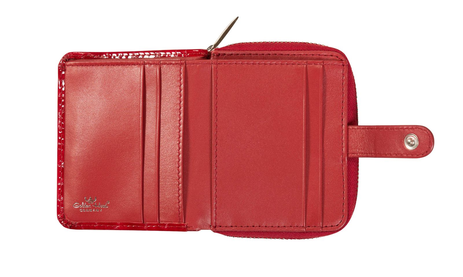 Golden Head Cayenne Petite Billfold Coin Wallet with Snap Closure Blue