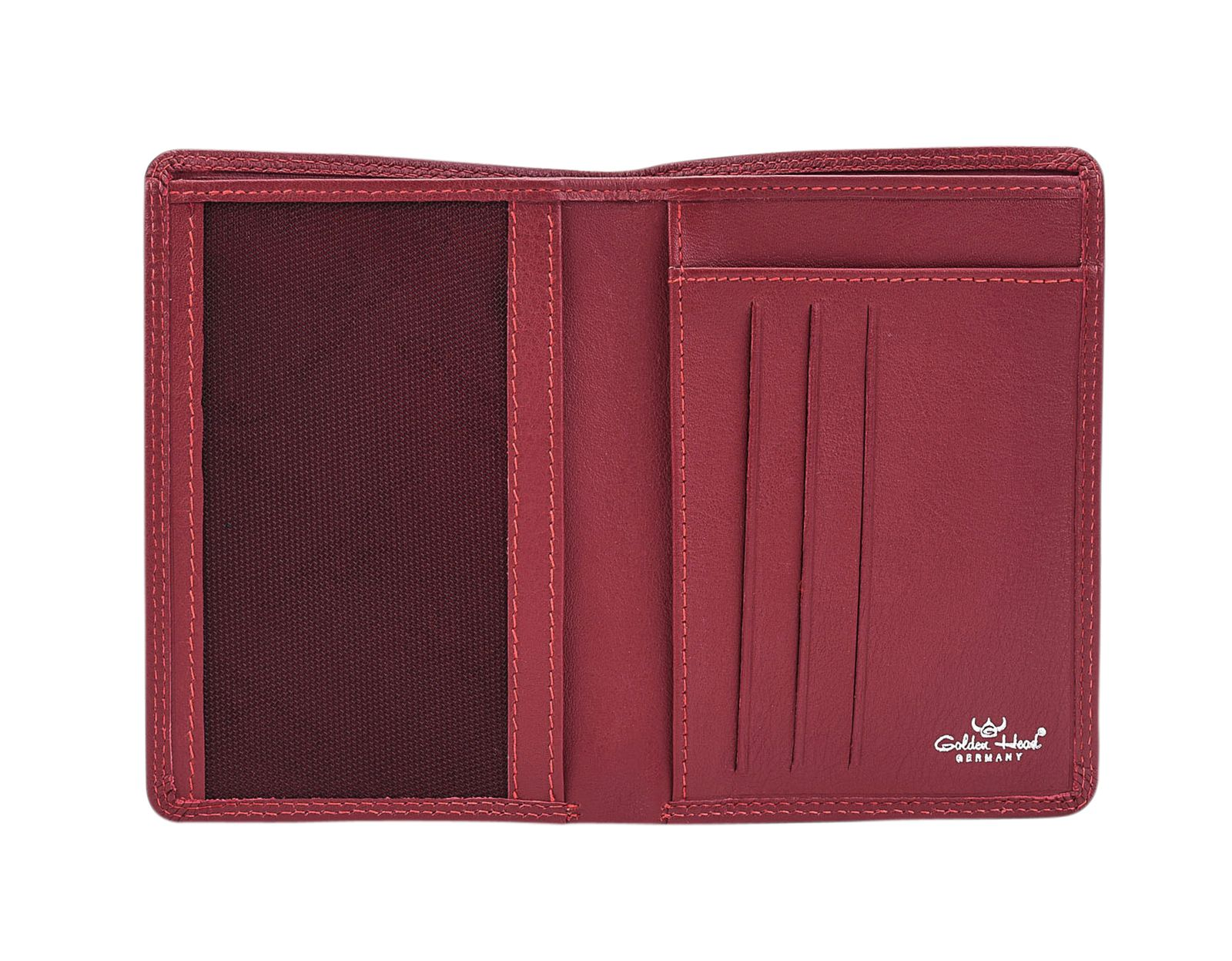 Golden Head Polo RFID Protect ID Wallet Red