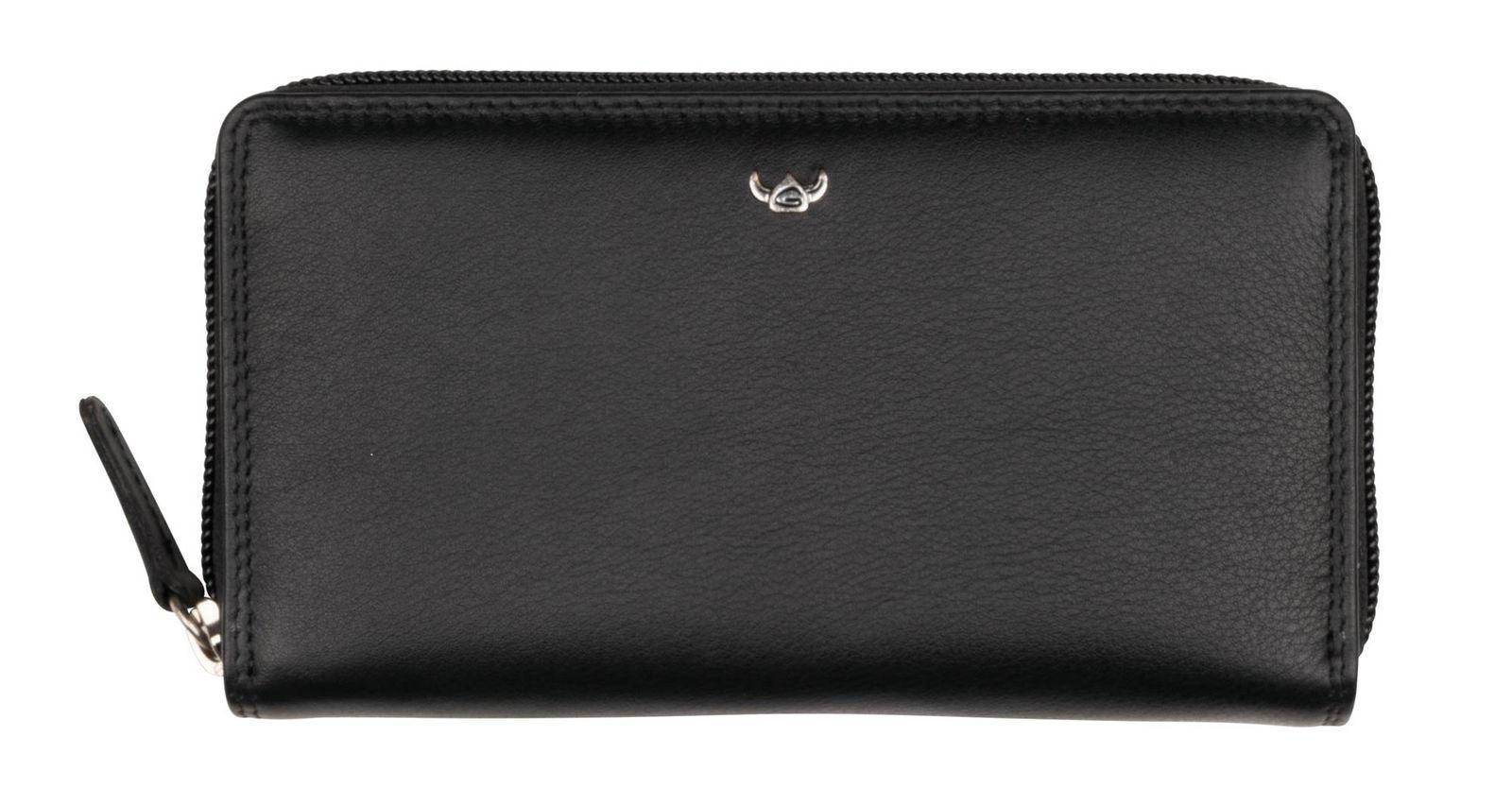 Golden Head Polo Zip Around Wallet Black