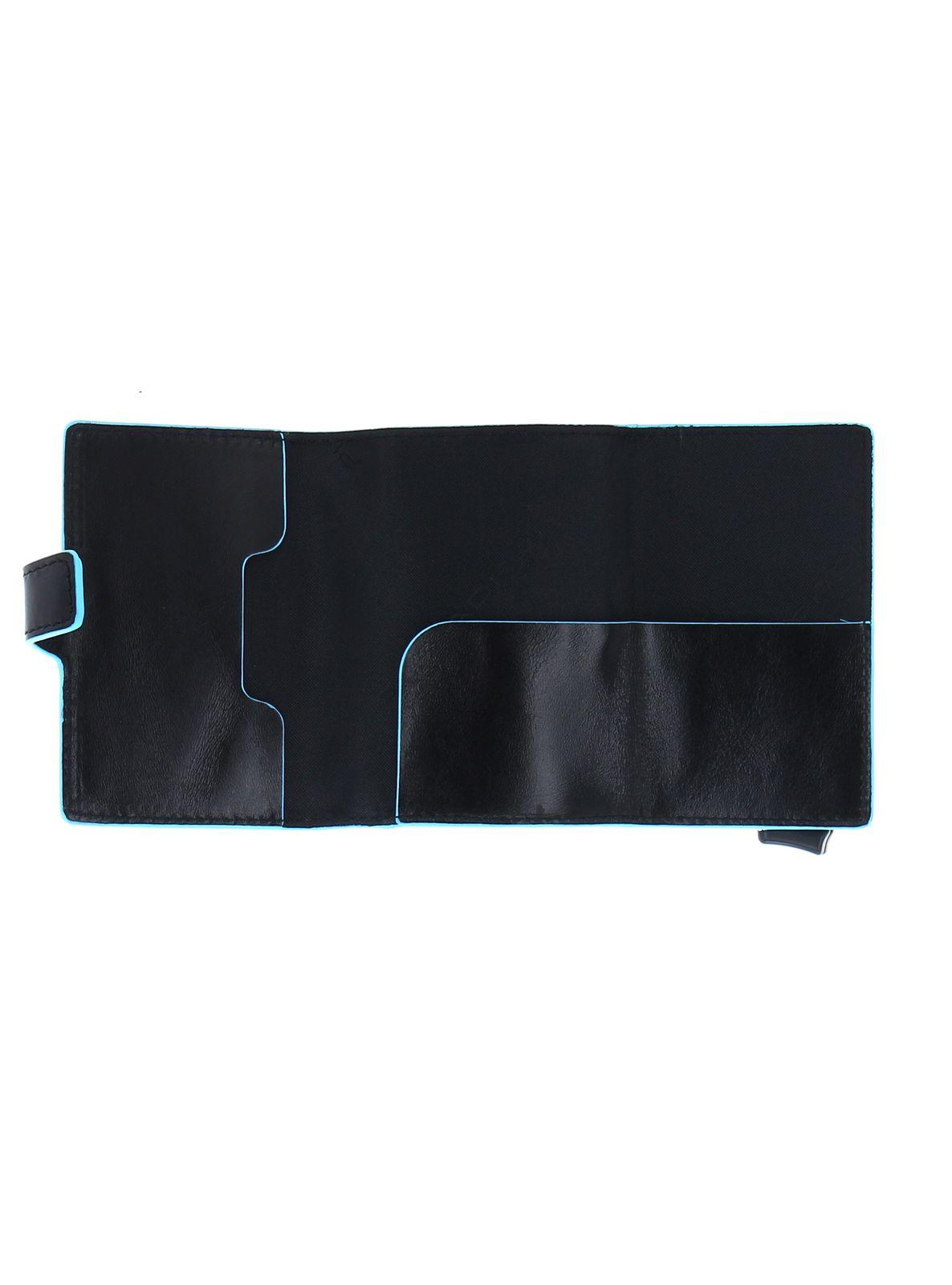PIQUADRO B2 Double Compact Wallet Nero