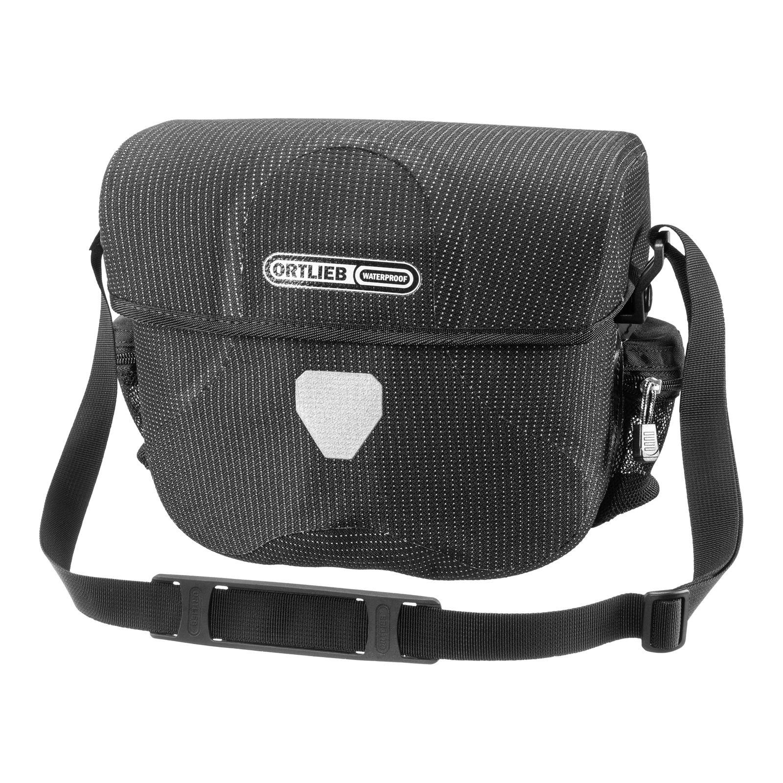ORTLIEB High Visibility Ultimate Six Bike Handlebar Bag 7L Black Reflective