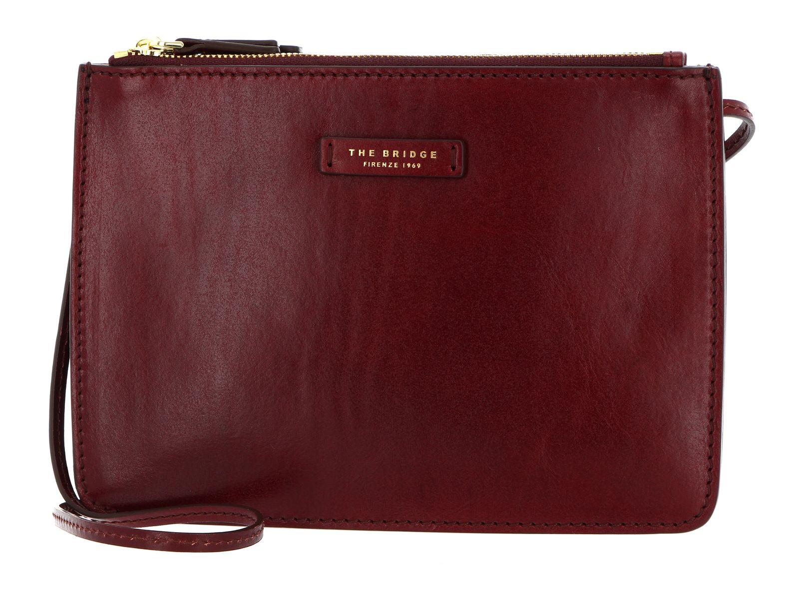 THE BRIDGE Rustici Ladie's Handbag with Zip Chianti Bordeaux / Oro