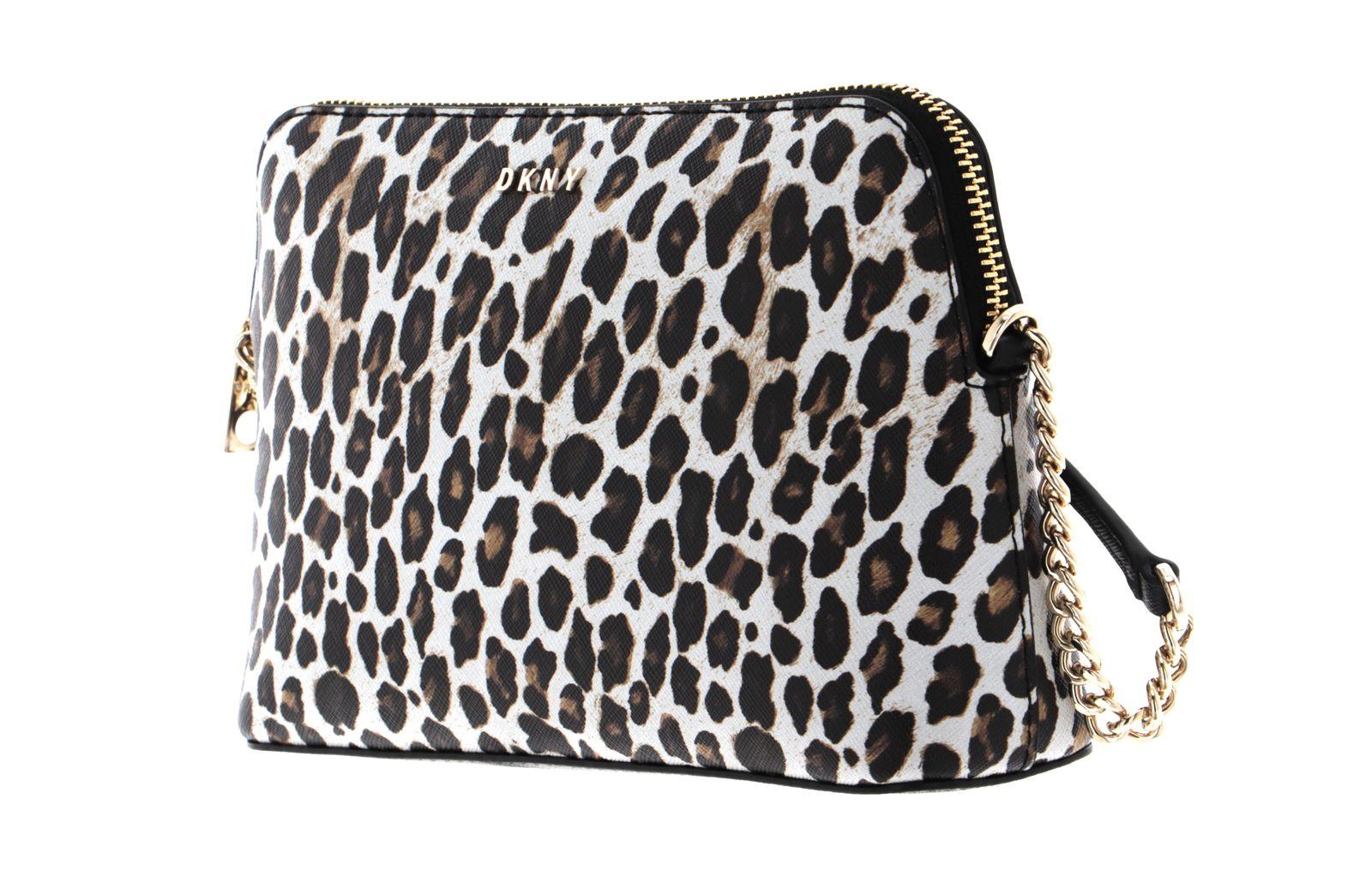 DKNY Bryant Dome Crossbody Leopard