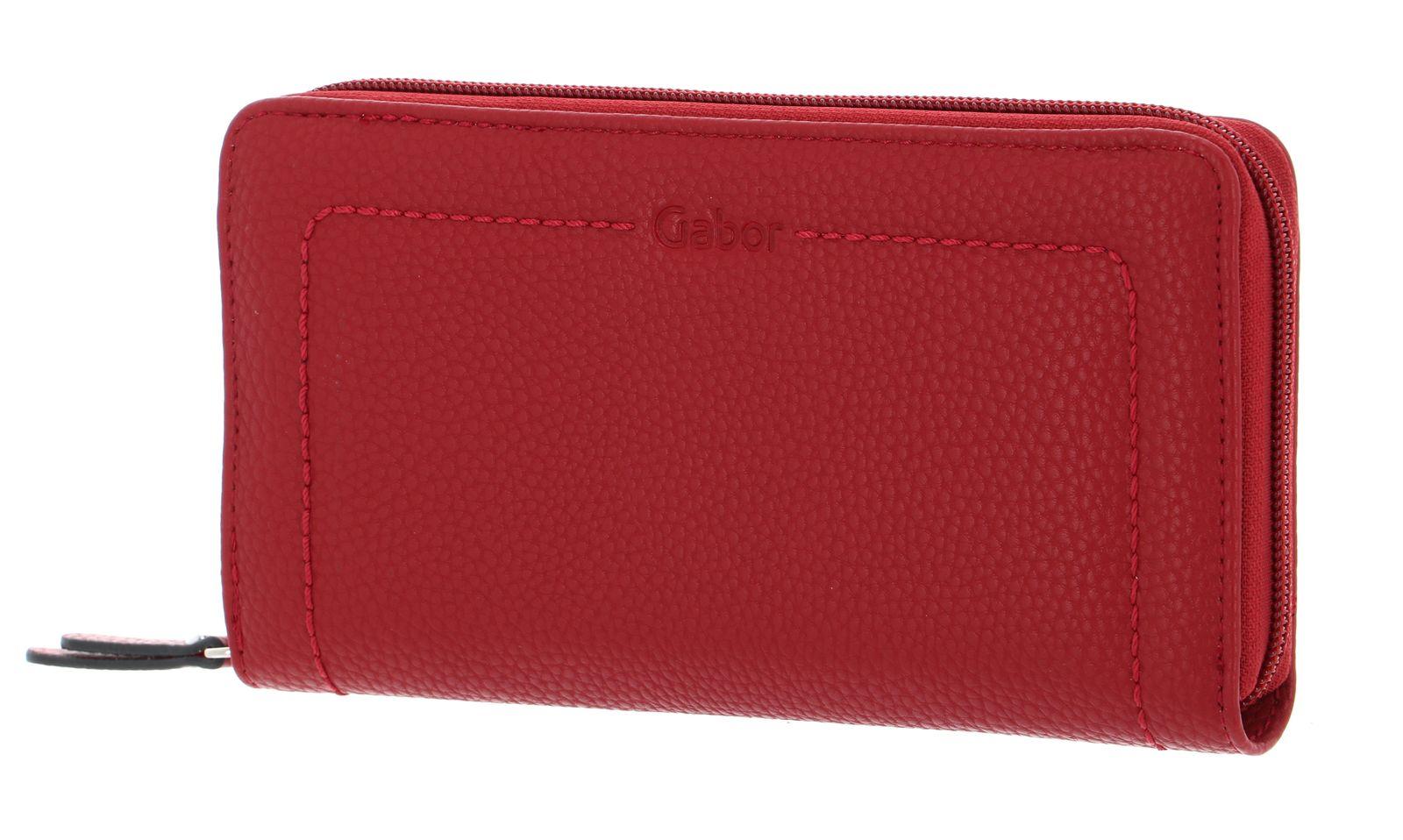 Gabor Alanna Long Zip Wallet Red