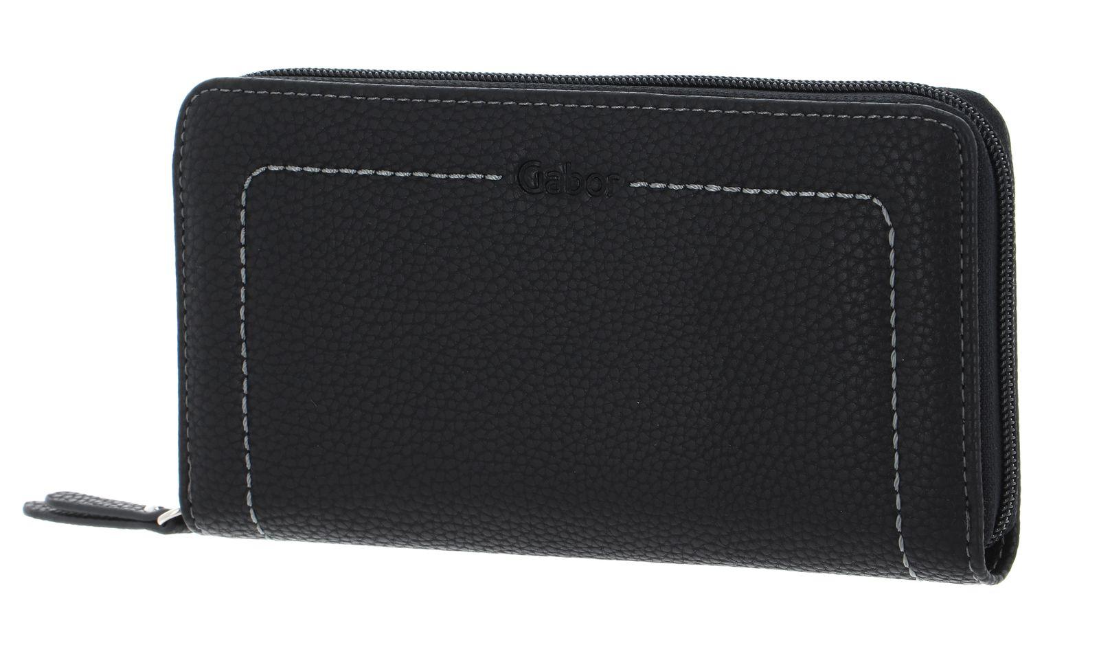 Gabor Alanna Long Zip Wallet Black