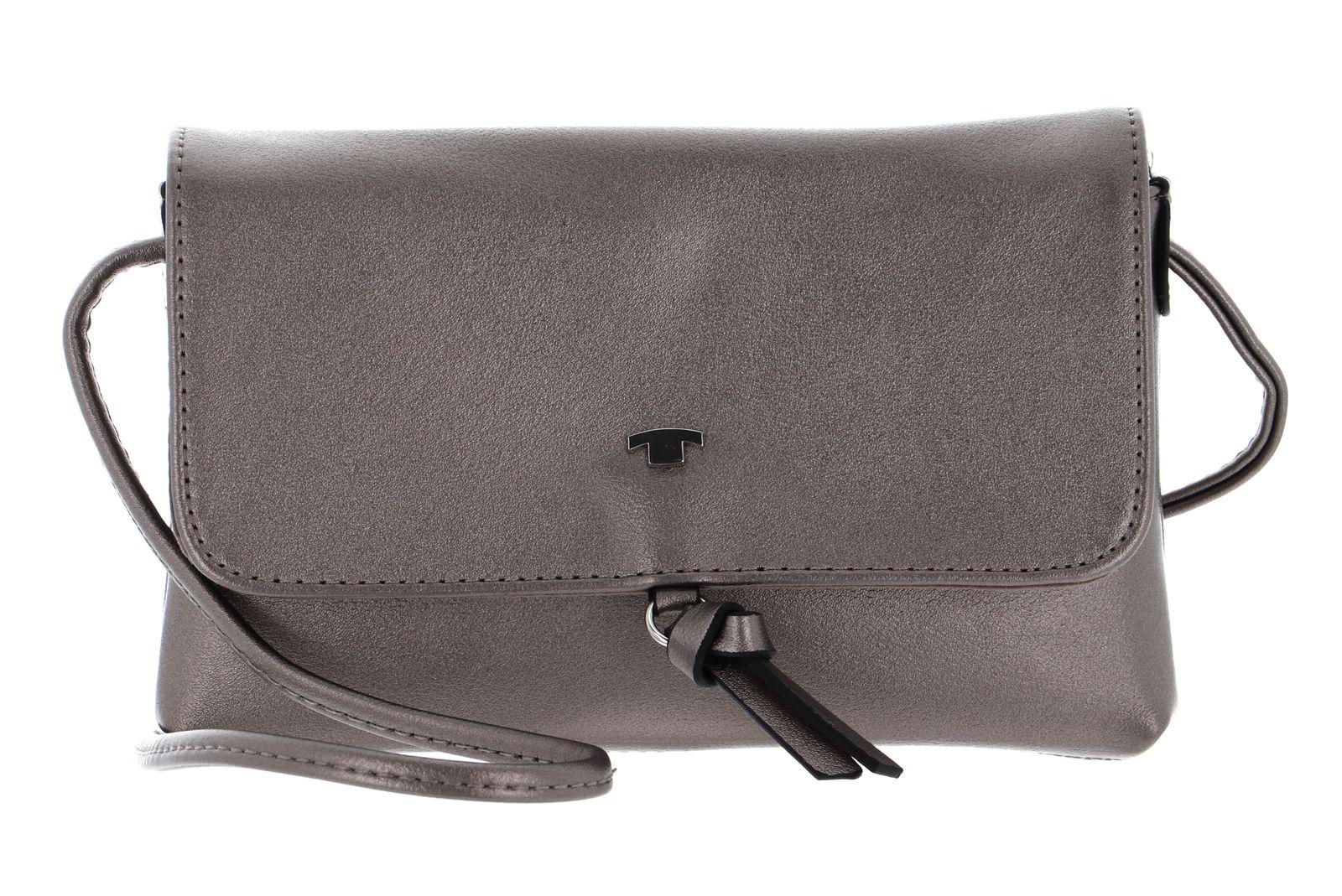 TOM TAILOR Luna Flap Bag S Dark Silver
