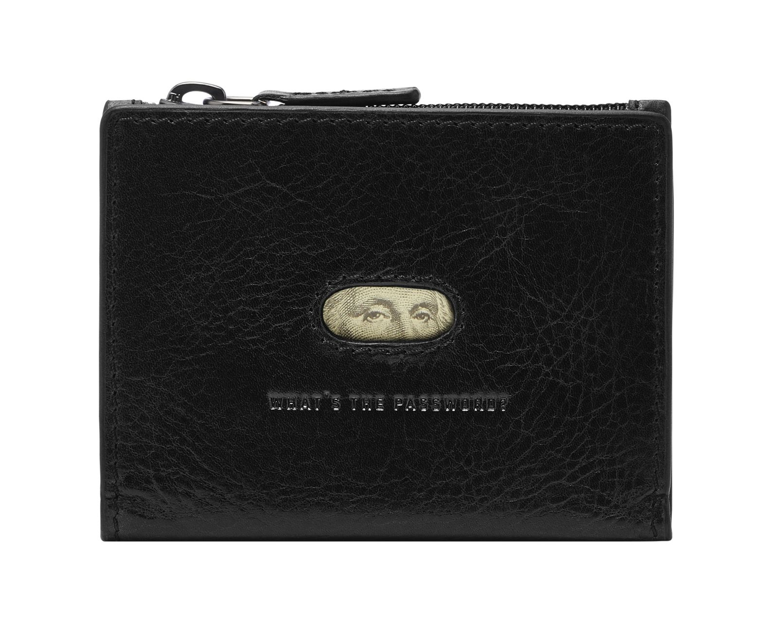 FOSSIL Andrew Magnetic Zip Card Case Black