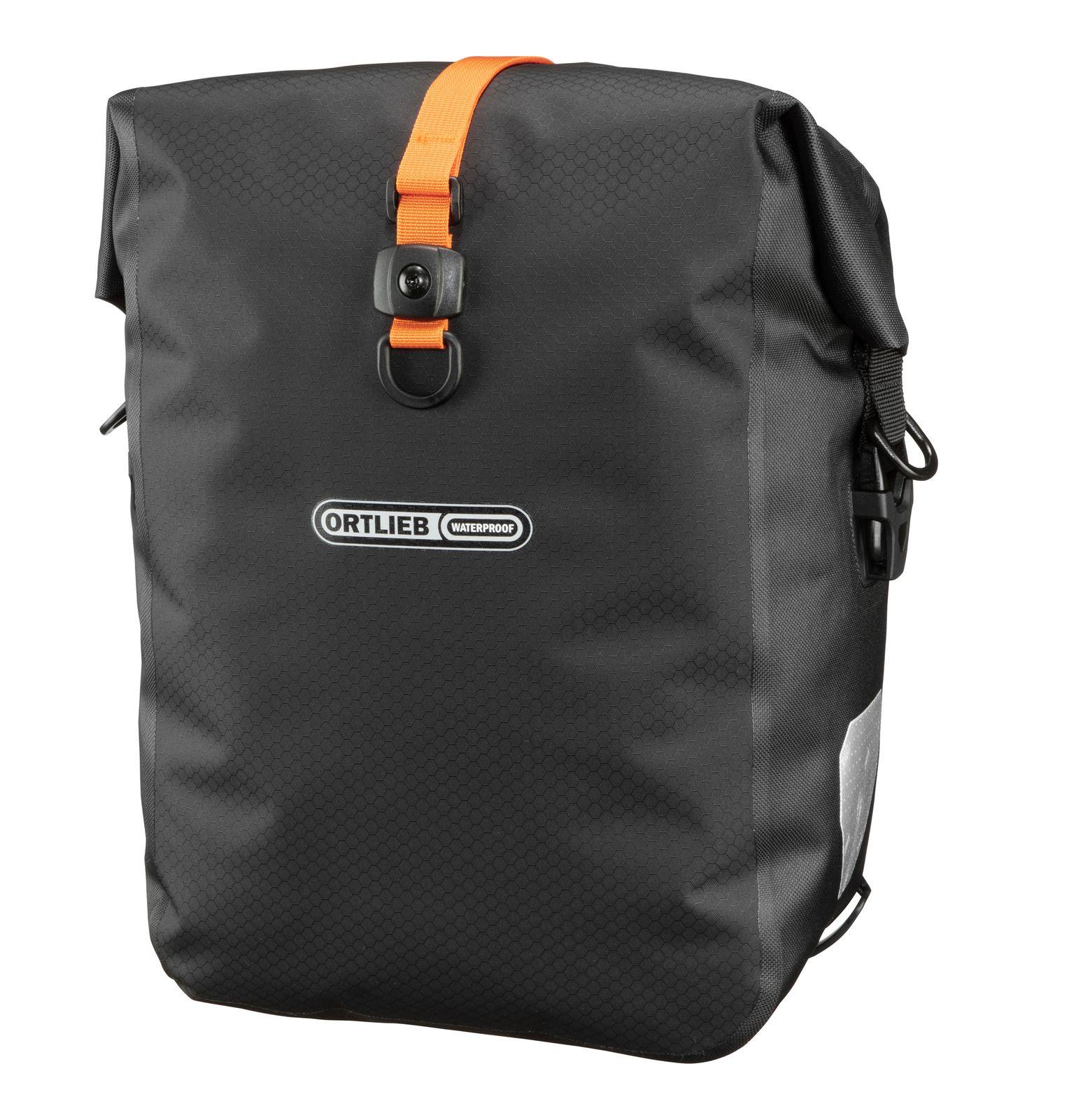 ORTLIEB Bike Packing Gravel-Pack Bike Side Panniers (QL2.1) 25L - Pair Black Matt