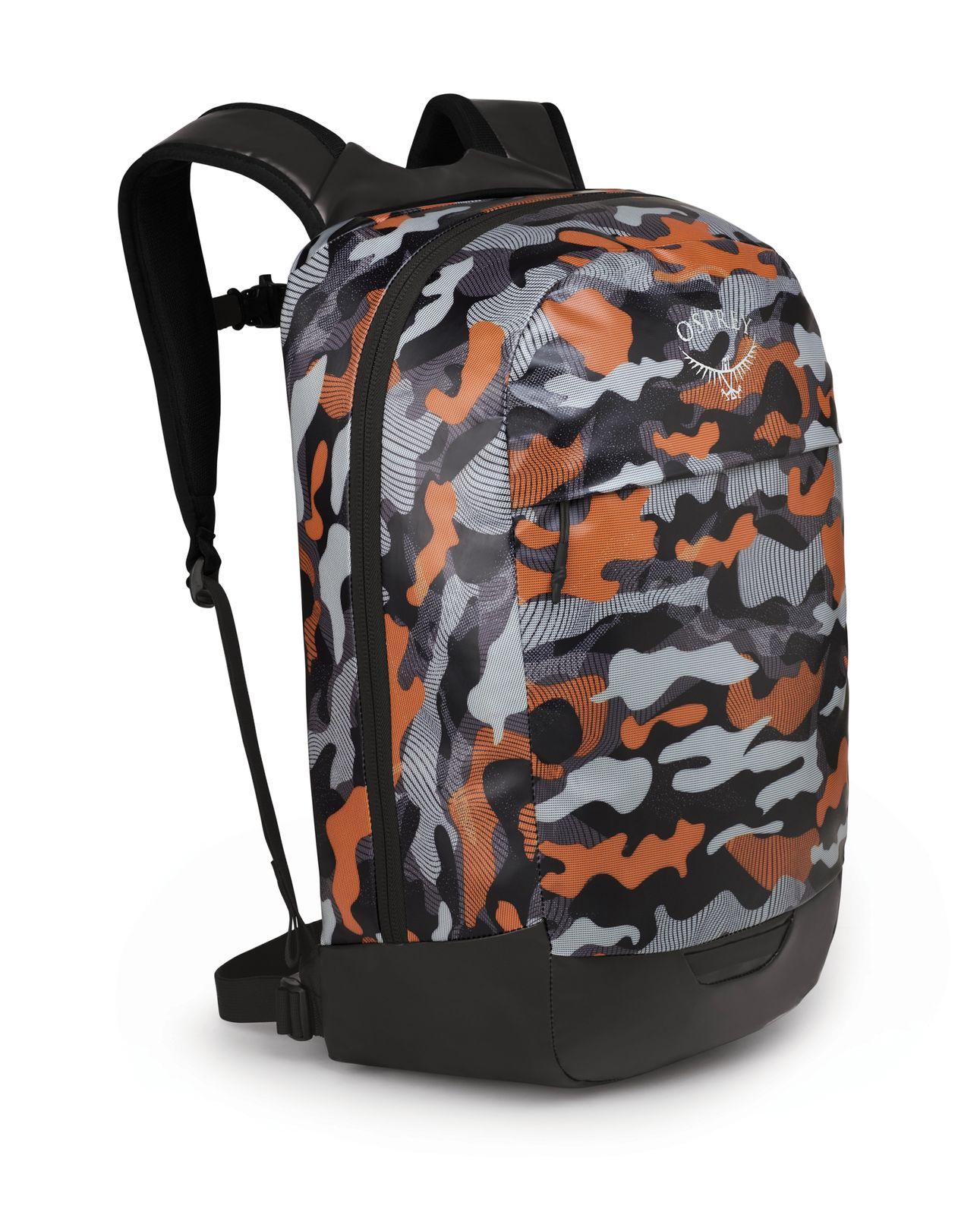Osprey Transporter Panel Loader Black / Orange Camo