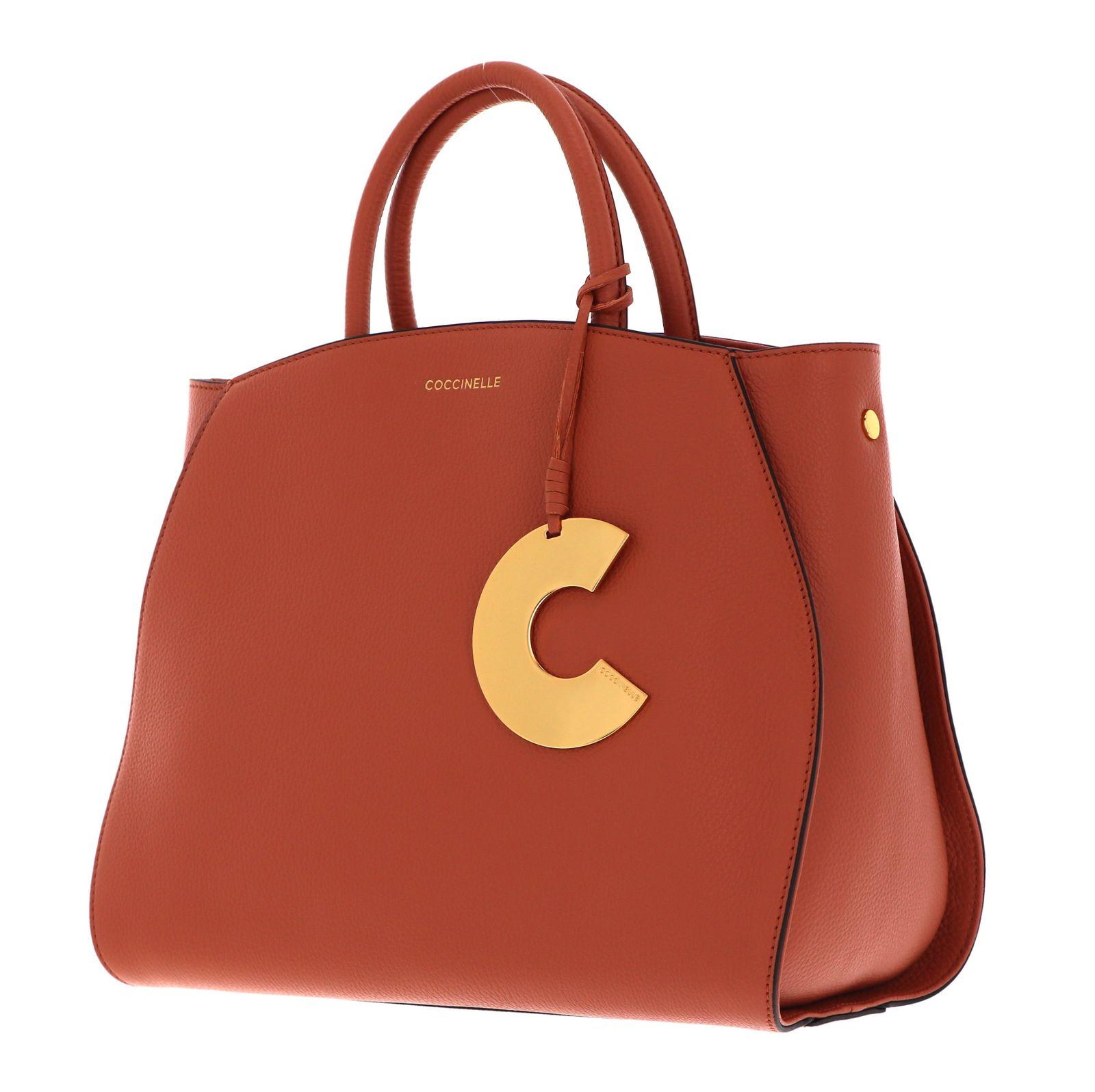 COCCINELLE Concrete Handbag Chestnut